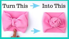 diy baby headbands This is how you tie a baby headband bow into a baby headband rose. This helps you shake up the style and get more life out of your La Romi Headband. How to tie a headband bow Make Baby Headbands, Knot Headband, Headband Baby, Handmade Headbands, Turban Headband Tutorial, Fabric Headbands, Toddler Headbands, Elastic Headbands, Baby Girl Bows