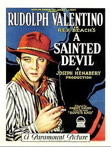 Rudolph Valentino in 'A Sainted Devil' . Movie Poster Art, Film Posters, Hooray For Hollywood, Hollywood Stars, Vintage Movies, Vintage Posters, Vintage Ads, Vintage Style, Rudolph Valentino