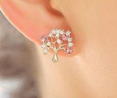 SPARKLY WISHING TREE RHINESTONE EARRINGS | Sniydan - Jewelry on ArtFire