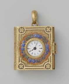 Watch in the form of a book, anonymously, about 1840 - 1860