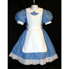 Disney ALICE In WONDERLAND Costume New Pinafore CUSTOM ❤ liked on Polyvore featuring costumes, dresses, alice in wonderland, disney, pictures, blue costume, disney costumes, disney halloween costumes, alice costume and alice in wonderland costume