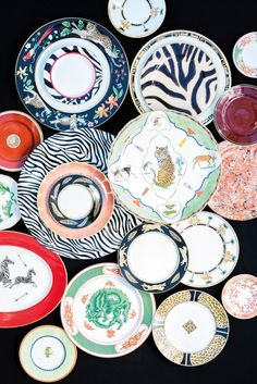 Get inspired by various tabletop ideas for the holidays and beyond with Replacements' beautiful array of dinnerware. Celebrate this season in style with a combination of animal prints, blues, and heavy metals.