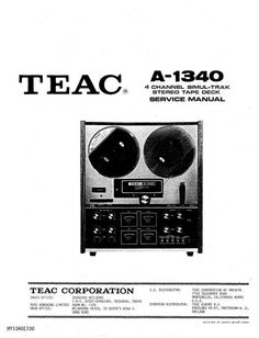 teac a 2340 sx reel tape recorder service manual rh pinterest com Online User Guide teac user manual