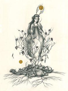 ORIGINAL  Sleeping Beauty by lizacorbett on Etsy