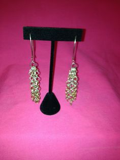 Sterling silver jump ring dangling earring by SassyGirlJewelrycom, $45.00
