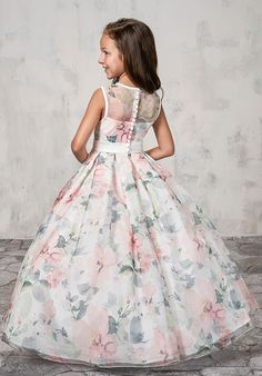 Best 12 Long Floral Print Flower Girl Dress by Mary's Bridal Bridal Angels Collection-ABC Fashion – Page 818599669749595104 Long Frocks For Girls, Gowns For Girls, Dresses Kids Girl, Girls Party Dress, Dress Party, Baby Frocks Designs, Kids Frocks Design, Première Communion, Baby Girl Dress Patterns