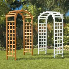 Greenstone Natural Arch 84 x 48 in. Outside Wooden Garden Arbor-MFS35PG at The Home Depot