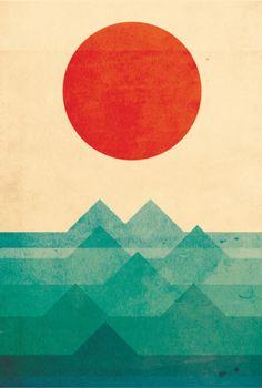 The ocean, the sea, the wave Art Print by Budi Satria Kwan