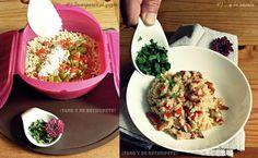 ¡Sano y de rechupete!: Risotto con bacon y verduras Mug Recipes, Diet Recipes, Cooking Recipes, Healthy Recipes, Easy Eat, Clean Eating, Veggies, Yummy Food, Favorite Recipes