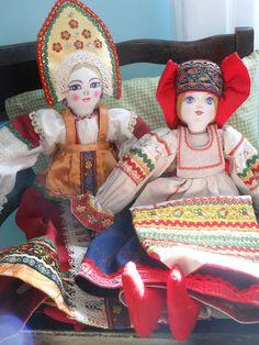 Russian dolls~wow beautiful ~~~~~