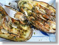 O varení, živote a tak...: Baklažán pečený s cesnakom