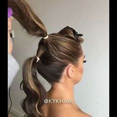 #BTCQUICKIE! Cheat Longer Ponytails! by @kykhair Model @taylorevans_ Makeupartist @beauty_byjulie #BEHINDTHECHAIR