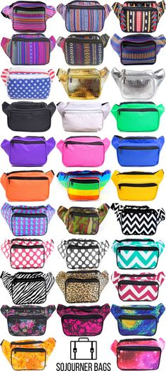 Can't find a cute, affordable fanny pack for your summer music festival adventures?   Check out SoJourner Bags Fanny Packs - super cute, affordable, fun and bright!   You own't find these styles anywhere else and there's stuff for men and women.
