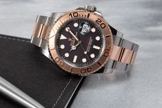 The golden autumn is here! Make your autumn something special with the Rolex Yacht Master Ref. 116621. Buy Rolex, Rolex Models, Luxury Watch Brands, Rose Gold Color, Rolex Watches, Autumn, Bracelets, Stuff To Buy, Accessories