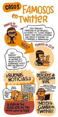 Famosos en Twitter #infografia #infographic #socialmedia #humor
