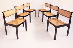 6 Chairs mod. Guhlstuhl 3100 Willy Guhl Dietiker Switzerland 1959