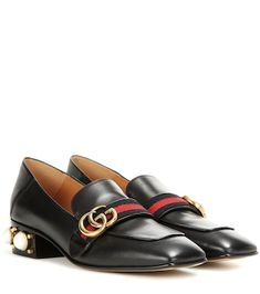 bacbb9203 Leather mid-heel loafer in 2019 | ***GUCCI FASHION*** | Heeled ...