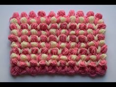 Punto garbanzo a crochet - YouTube