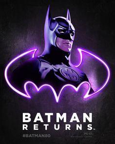 Batman Returns 1992 Neon Poster Childhood Movies, Dc Movies, Comic Movies, Comic Book Characters, Batman Artwork, Batman Wallpaper, Lego Batman Movie, Im Batman, Superman
