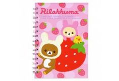 San-X Rilakkuma A5 Spiral Notebook Strawberry