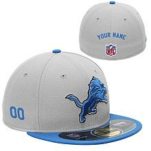 on sale 9449d 20826 Men s New Era Detroit Lions Customized Onfield 59Fifty Football Structured  Fitted Hat Personalized Football, Nfl
