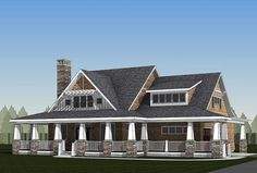 Plan 18289BE: Storybook Country House Plan with Sturdy Porch ...