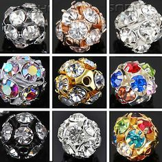 Paving crystal drill hollow round ball pad beads  Our Charm Beads Are - Premium Quality!