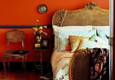 Need more drama that a 'pop' of tangerine? Do the walls! If you are lucky enough to have high celings the room can handle the color all around, not just on an accent wall.