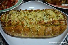 Noz Moscada e Gengibre: Pão com queijo gratinado