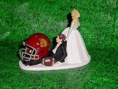 USC Trojans Football Groom Cake Fun but Cute by splendorlocity, $59.99