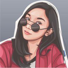 Draw you in my realistic cartoon style by Hendraprh Vector Portrait, Digital Portrait, Portrait Art, Pop Art Drawing, Guy Drawing, Caricature, Realistic Cartoons, Adobe Illustrator, Human Icon