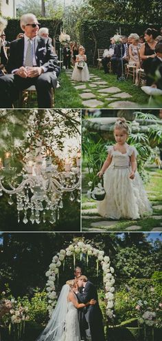 Pretty outside wedding