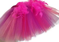 Tulle Tutu 3T 4T 5T Toddler Girl's Hot Pink Feathers Light Pink Purple Age 3-5 Years Boa by YoungSparkleandShine on Etsy https://www.etsy.com/listing/216991147/tulle-tutu-3t-4t-5t-toddler-girls-hot