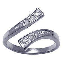 Cubic Zirconia Pavé Wrap 14K White Gold Toe Ring FreshTrends. $141.68