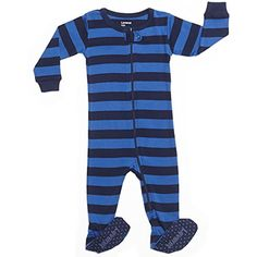 760da05d21757 Leveret Footed Striped Boy Variety Pajama Sleeper 100 Cotton Size 1218  Months Blue Navy    Read more at the image link.