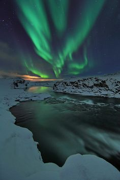 Experience the Northern Lights (this is in Iceland...I don't have to do it in Iceland...but , heck, why not?)