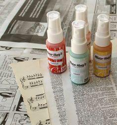 tie dye dictionary paper tutorial