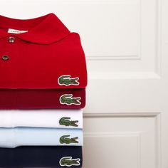 861476122c7fa L.12.12 polos on one another, with five croco friends. Lacoste Polo Shirts