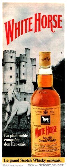 Original-Anzeige / Publicité 1983 - (en français) WHITE HORSE SCOTCH WHISKY -  ca. 110 x 280 mm