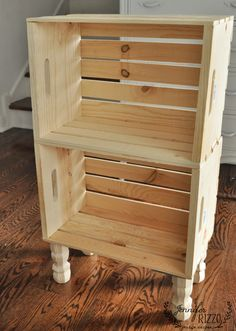 DIY crate side table for easy storage - Jennifer Rizzo DIY crate side table for easy storage - Jennifer Rizzo,furniture DIY side table from crates home decor house projects side table wood projects stand ideas Crate Side Table, Farmhouse Side Table, Diy Side Tables, Pallet Side Table, Side Table Decor, Small Side Tables, Wood Crate Table, Wood Crate Shelves, Side Table Makeover