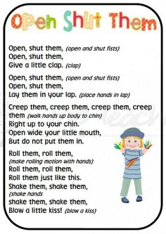 Fine motor finger and hand rhymes | Top Teacher - Innovative and creative early childhood curriculum resources for your classroom Repinned by SOS Inc. Resources. Follow all our boards at pinterest.com/sostherapy/ for therapy resources.