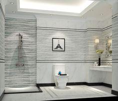 Lineal wave feature tiles extend the width of a room #featuretile #tiles #allaboutperception #linealtiles #bathroomtiles #bathroom #bathroomdesign #bathroominspo #bathroomdecor #bathroomdecor #bathroomgoals #modernbathroom #luxurybathroom #instabathroom #design #decor #interiordesign #architect #love #modern #fresh #new #floortiles #walltiles