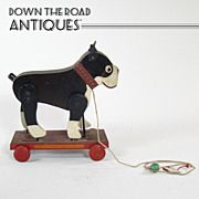 Rare Wood and Tin Boston Terrier Pull-toy with Moving Legs Vintage Games, Vintage Toys, Retro Vintage, Boston Terrier Love, Boston Terriers, Pull Along Toys, Dog Leg, Victorian Life, Pull Toy