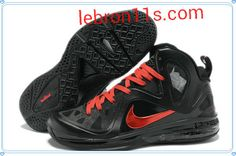 online store 95f34 9c1c6 Cheap Lebrons Shoes Lebron 9 Elite Playoffs PE Black Red Ruby 516958 102  Nike Basketball Shoes