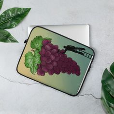 Laptop Sleeve 13in & 15in - Grape paint cover Grape Painting, Snug Fit, Sliders, Laptop Sleeves, Faux Fur, Handmade Items, Cover, Shop, Etsy