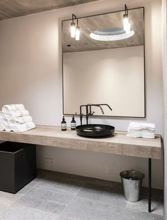 If you're wondering how to decorate a bathroom, you'll love these small bathroom design ideas. Create a stylish bathroom with big impact with our easy small Bad Inspiration, Bathroom Inspiration, Interior Inspiration, Bathroom Ideas, Bathroom Designs, Industrial Bathroom, Bathroom Interior, Vintage Industrial, Industrial Lighting