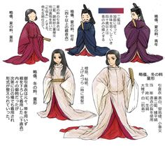 Men and boys dressed in koeki no sokutai and kariginu
