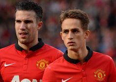 Adnan Januzaj(r) and Robin van Persie(l).Robin van Persie the vanguard of the national team of the Netherlands David Moyes, Van Persie, Soccer News, Manchester United Football, English Premier League, Professional Football, Old Trafford, Football Match, Man United