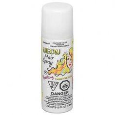Rock Star Party Supplies, neon Hair Spray, White Hair Spray