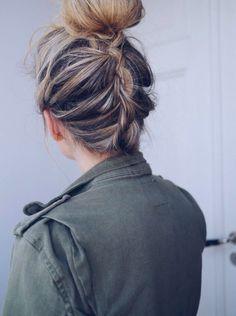 backside french braid